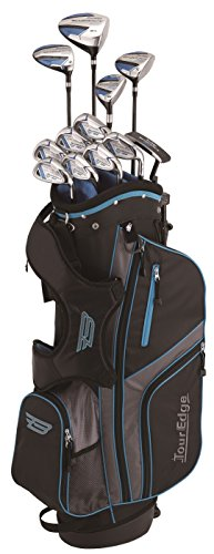 Tour Edge Male Bazooka 360 Box Set (Men's, Right Hand, Graphite, Uniflex, Full Set), black/ Blue, Full Set