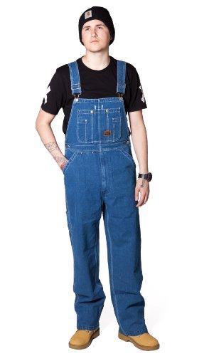 Big Smith Men's Bib Overalls - Stonewashed Work Overalls for Men Blue Jean (Big Smith Bib Overalls)