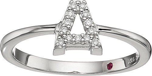 Roberto Coin White Ring (Roberto Coin Women's Tiny Treasure Initial A Love Letter Ring White Gold 6 1/2)