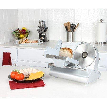 Kalorik 200-Watt Electric Meat Slicer with 7.5'' Blade, Silver