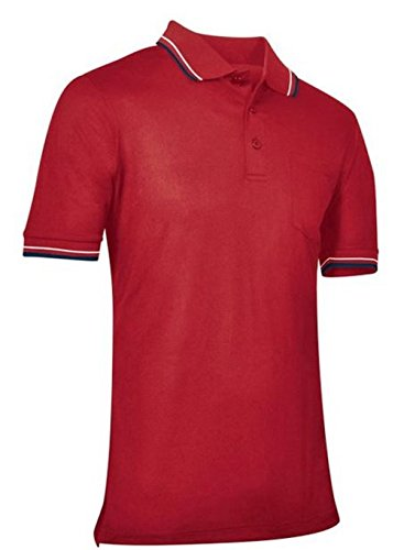 CHAMPRO Umpire Polo Shirt; Adult Red, Small ()