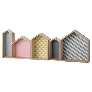 pastel Colors Wood House Shaped Display Box