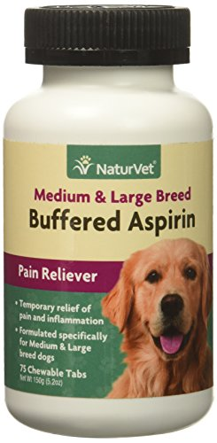 NaturVet Buffered Aspirin Medium Large Breed (75 count)