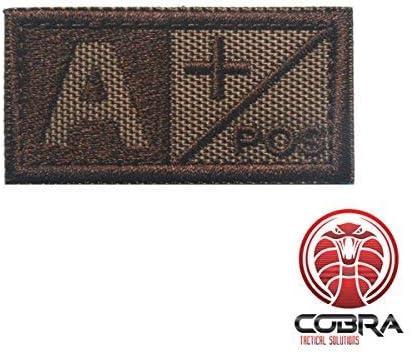 Cobra Tactical Solutions Tipo Sangre A+ POS Parche Bordado Táctico Moral Militar con Cinta adherente de Airsoft Cosplay para Ropa de Mochila Táctica: Amazon.es: Hogar