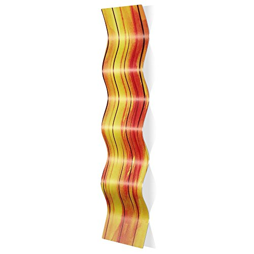 Wavy Metal Art 'Heat Wave' by Amber LaRosa - Warm Tone Wall