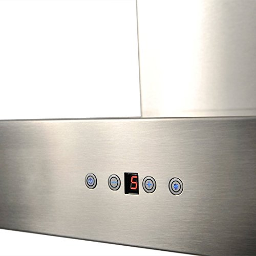 CAVALIERE AP238-PSZ-42 Wall Mounted Stainless Steel Kitchen Range Hood, 860 CFM, 42'' by CAVALIERE (Image #3)