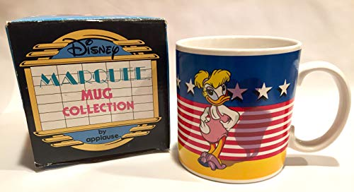 (1988 Daisy & Donald Disney Marquee Mug Collection Patriotic Pin-Up Applause 12 oz 14630)