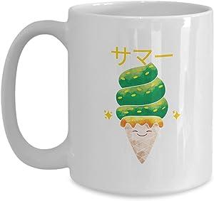 Mug Japan Ice Cream Gift For Japanese Dish Lover Food Asian Fan Coffee Tea Cup Large 15 Oz