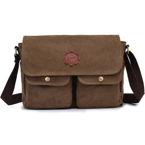 Kaxidy Leinwand Schultaschen Messengertaschen Taschen Umhängetasche