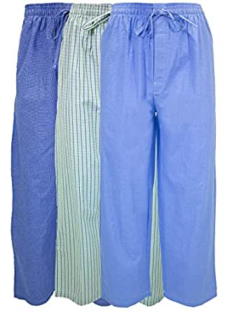 55a52aaecd0 Andrew Scott Men s 3 Pack Super Soft Woven Pajama   Sleep Long ...