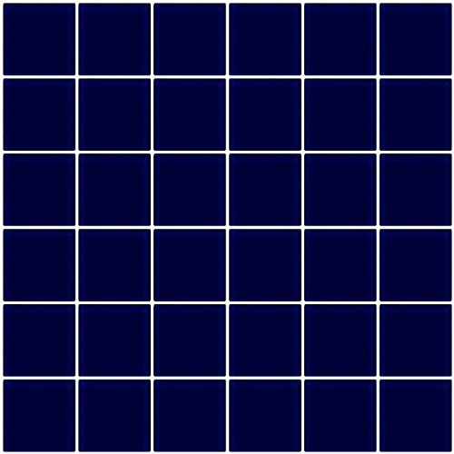 Susan Jablon Mosaics - 2x2 Inch Navy Blue Glass Tile