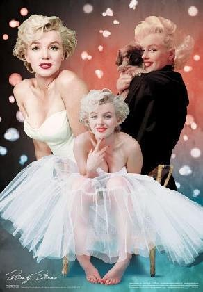 Marilyn Monroe  3 Poses  3D Poster