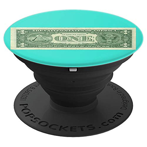 (United States Dollar banknote on turquoise background. - PopSockets Grip and Stand for Phones and Tablets)