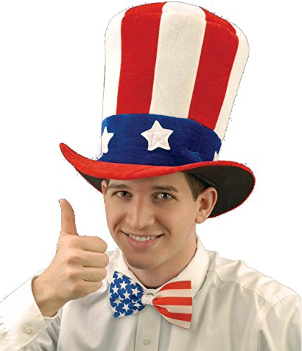 - Forum Novelties Men's Uncle Sam Velvet Novelty Adult Top Hat, Multi, One Size