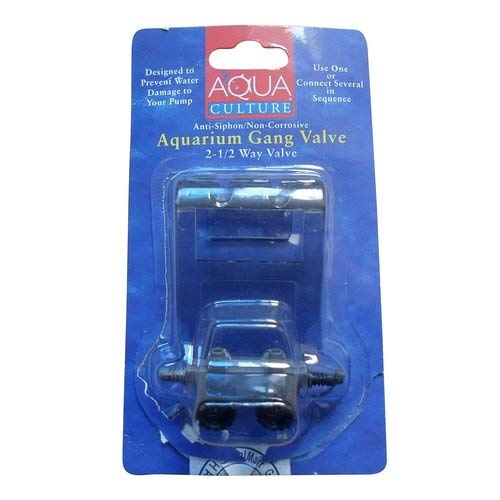 Aquarium 2-1/2 Way Gang Valve, 1 Ct-Aqua Culture-0002780690475