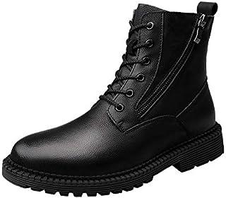 LOVDRAM Hommes Chaussures en Cuir Automne Et d'hiver Martin Bottes Hommes Bottes en Cuir Bottes Hommes Plus Coton Bottes Militaires De Mode Haute pour Aider Les Chaussures Hommes LOVDM