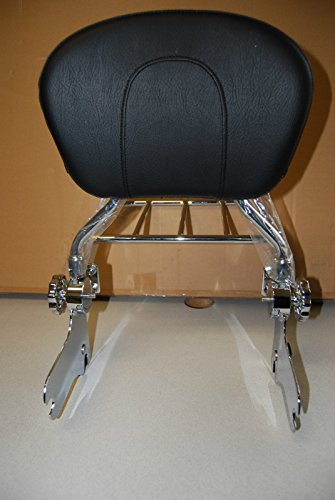 Wisdom Motorcycle Backrest sissy bar and flat luggage rack for Harley Davidson Touring Models 1997-2008 by Wisdom Motorcycle (Image #2)