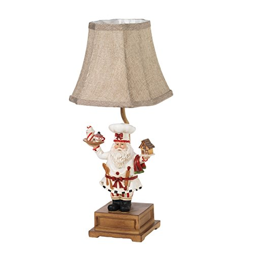 Raz Imports Santa Claus Pastry Chef Gingerbread Baker Christmas Table Lamp 17