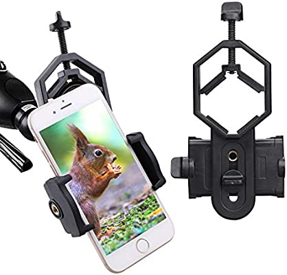 Smart Gosky Universal Cell Phone Adapter Mount Binocular Cases & Accessories Compatible With Binocular Monocular Cameras & Photo