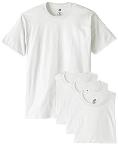 Hanes Men's Comfortsoft T-Shirt (Pack Of 4),White,X-Large (Plain White Tees T-shirts)