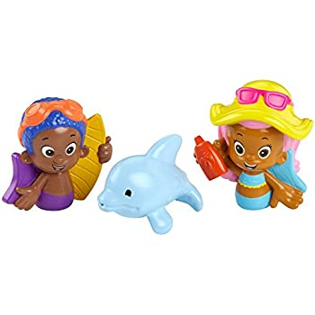 Fisher Price Nickelodeon Bubble Guppies Molly, Goby And Buddy Bath Squirters