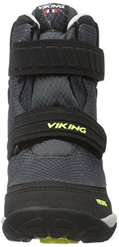 Viking Unisex-Kinder Hagl Kurzschaft Stiefel Grau (Charcoal/Lime 7788)