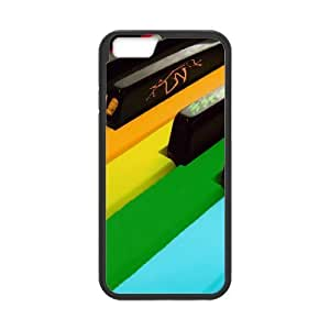 Tyquin Colored Piano Keys Cases For iPhone 6 Pattern, Iphone 6 Cases For Girls Cheap Unique For Guys With Black