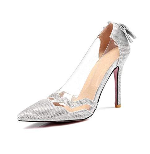 Maglie 10cms Moojm Tacchi Su Stiletto E Bow partito D'oro Con Scarpe Silver Puntato Nozze Bocca Alti Superficiale Donna daily Slip w0vrf0