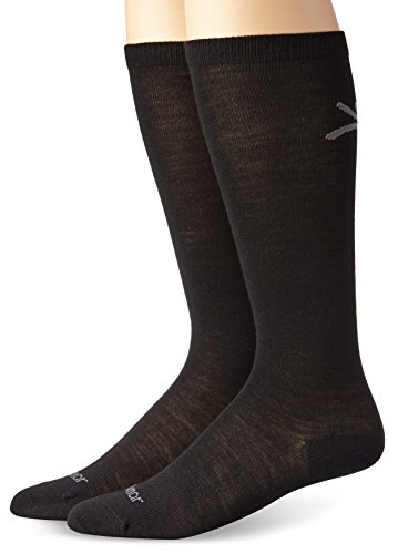 Terramar Merino Wool Liner Socks (2 Pack), Black, Large/10-13