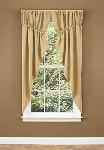 Park Designs Burlap Lined Gathered Swag, 72 x 63 (Burlap Lined Curtains)