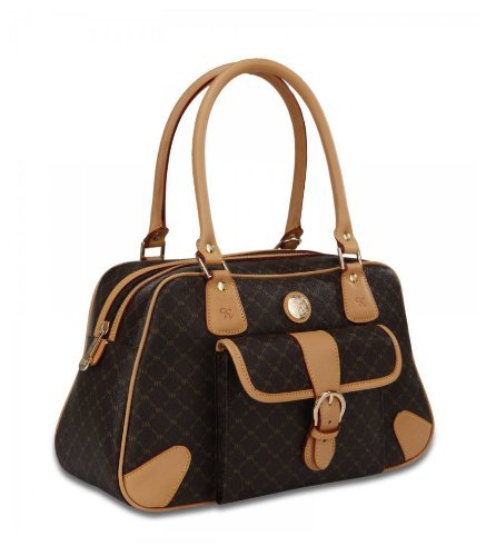 Signature Brown Satchel Organizer by Rioni Designer Handbags & Luggage