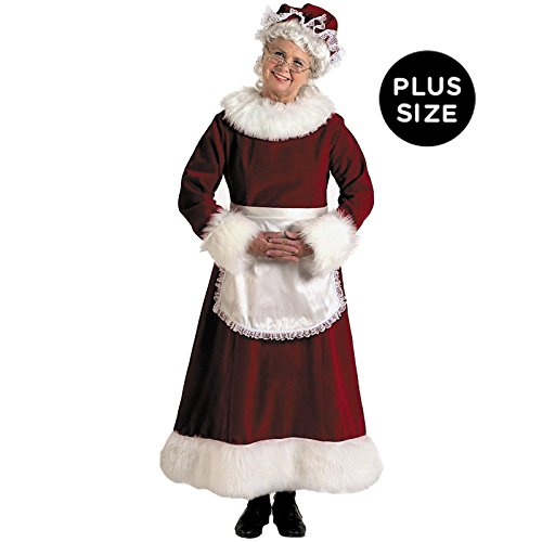 [Plus Size Adult Mrs. Santa Claus Costume] (Santa And Mrs Claus Costumes)