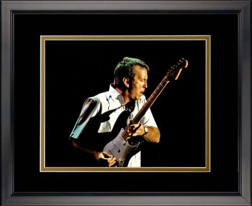 """Eric Clapton 16"""" x 20"""" Framed Double Matted Photo by Legends Never Die, Inc."""