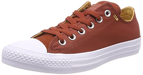 Converse Unisex Kids' Chuck Taylor CTAS Ox Textile Fitness Shoes, Brown (Marosc Stone/Soba/White 608), 3.5 UK 4 UK
