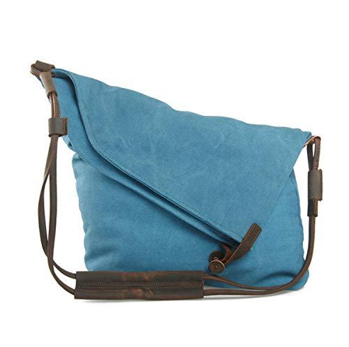 Casual Cuir Blue En Vintage Pliable Main Bandoulière Provisions Toile À Sac WFg8wqa8