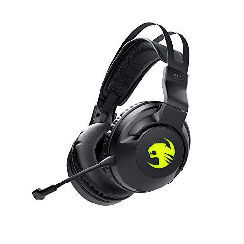 🥇 Roccat ELO 7.1 Air – Auriculares inalámbricos para Videojuegos con Sonido Envolvente RGB