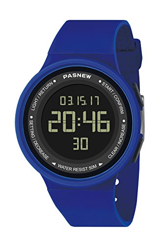 Pasnew-446 Sports Digital Watches Womens Kids Boys or Girls Watches Teenagers Students Watch with Alarm Stopwatch Multi-Functional Wrist Watches ()