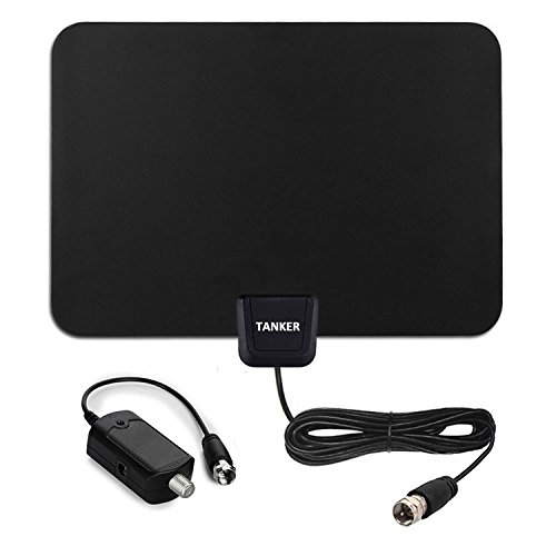 Digital TV Antenna-50 Mile Range Amplified Indoor HDTV Antenna with 10ft Coax Cable