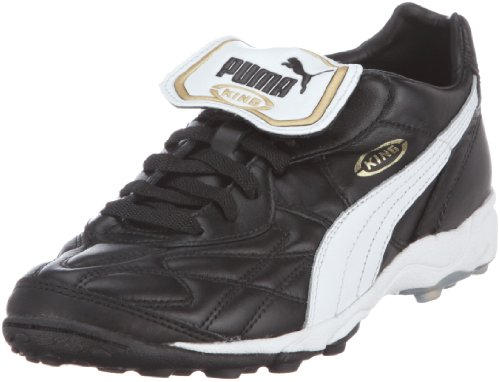 PumaKing Allround TT - Calcio scarpe da allenamento Uomo Nero (Black-white-team Gold 01)