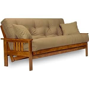 nirvana futons stanford futon set queen size frame 8 mattress microfiber. Black Bedroom Furniture Sets. Home Design Ideas