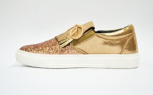 Paillettes Sneakers on Oh Et Brillant Baskets Tissu Franges Slip Tennis Avec Shop champagne Shy40 Languette My Noeud qwH8gxA08X