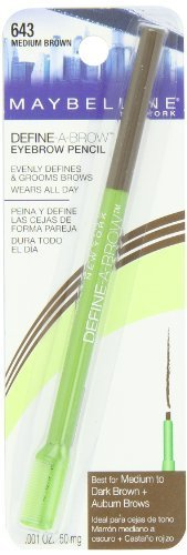 Maybelline Define-A-Brow Eyebrow Pencil - Medium Brown - 2 Pack