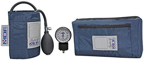 MDF® Esfigmomanómetro aneroide Calibra - Monitor de presión arterial - Garantía de por vida & Programa-piezas-gratuitas-de-por-vida - Azul Marino (Abyss) (MDF808M-04)