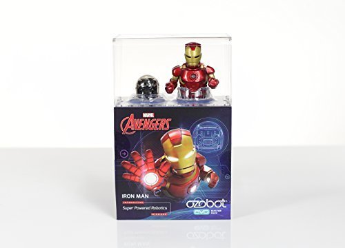Ozobot Evo Starter Pack, w/ bonus smart skin and Markers, Iron Man, Marvel's The Avengers by Ozobot (Image #1)