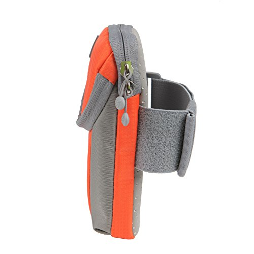 yodo Running Sport Armband with Key Holder and Earphone Hole,2 pouches Fits for iPod Nano/Cell Phone iPhone7S /6S plus/Samsung Galaxy S5 S6 S7 Edge for Workout Exercise Gym Jogging Walking,Orange by yodo (Image #4)