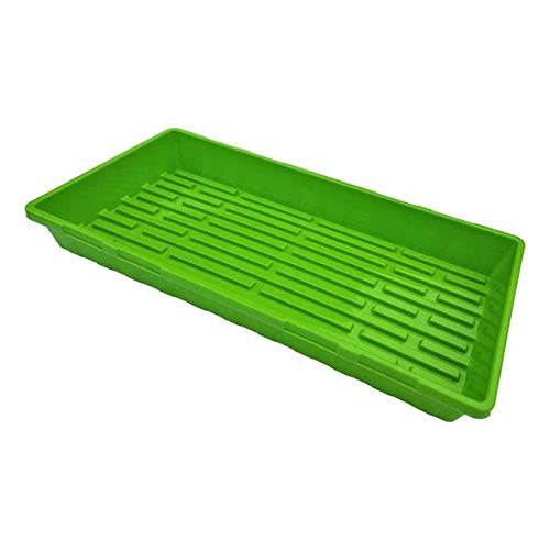 Green Extra Strength Seedling Tray No Drain Holes – 20 x 10 , 10 Pack, for Growing Microgreens, Wheatgrass Seeds, Hydroponic Germination, Fodder System 1020 Starter by Bootstrap Farmer