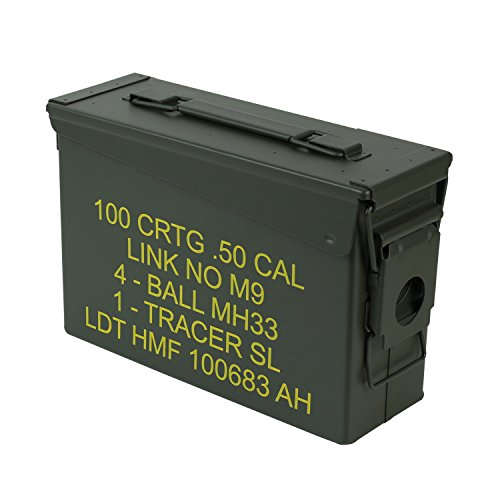 HMF 70010 Caja de Munición, US Ammo Box, Caja de Metal, 27,5 x 17,5 x 9,5 cm, Verde: Amazon.es: Hogar