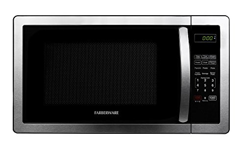 Farberware FMWO11AHTBKB 1000-Watt Microwave Oven, 1.1 cu. ft, Stainless Steel