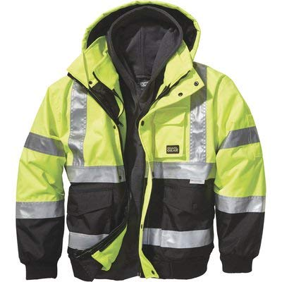 (Gravel Gear High-Visibility 3-in-1 Bomber Jacket - XL)