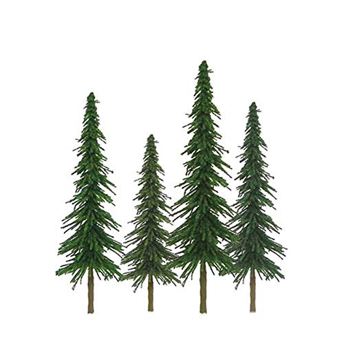 "JTT Super Scenic Spruce 4"" to 6"" HO Scale - 24 Pack"
